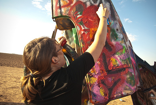 Cadillac Ranch: Tag!